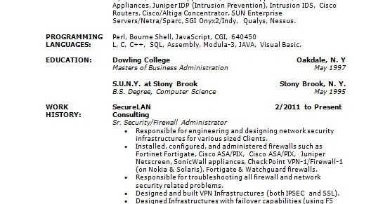 firewall administrator sample resume format in word free