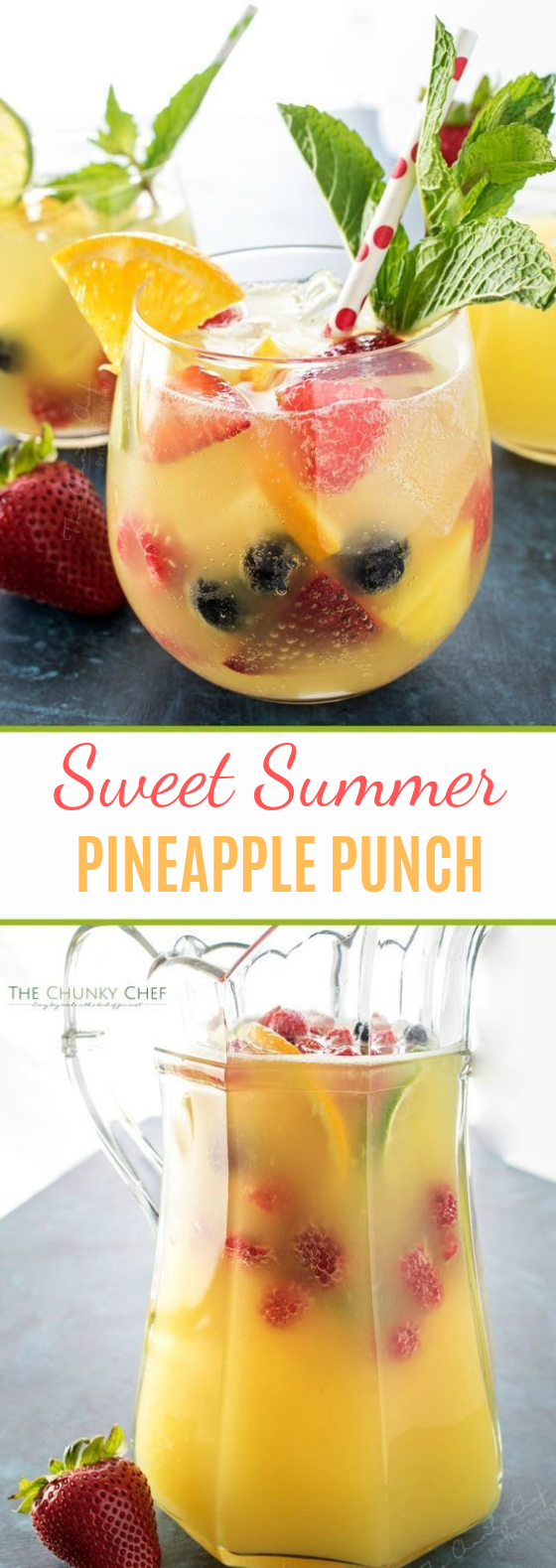 Fizzy Pineapple Punch #summerdrink #punch