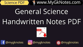 General Science Handwritten Notes PDF For Pre RAS