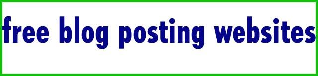 free blog posting websites
