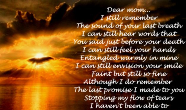 poems for mom from daughter