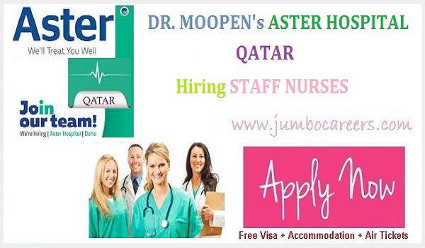 Dr. Moopen's  Aster Hospital Qatar Nurse salary