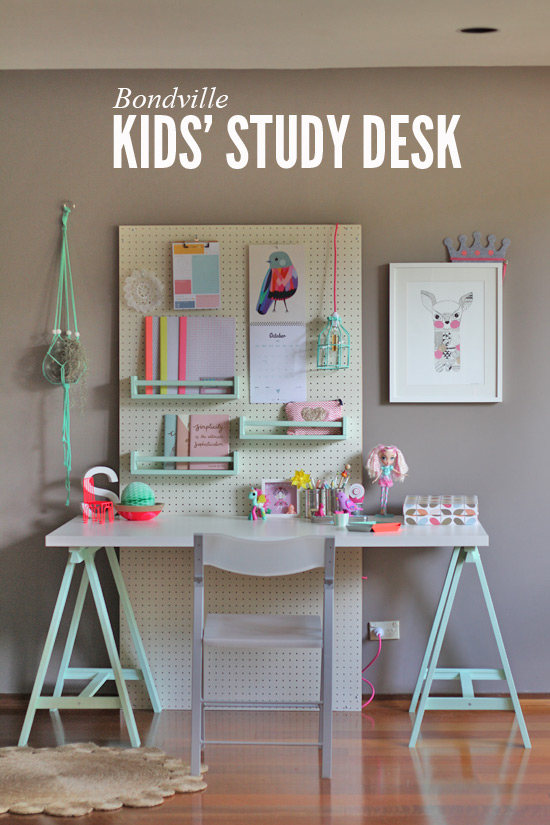 Bondville Flexible Kid S Study Space With Pegboard