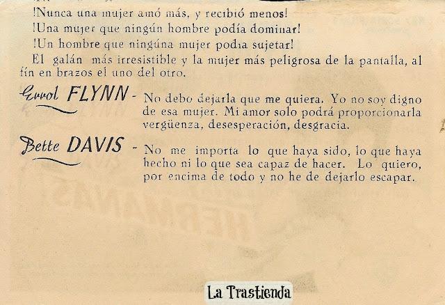 Programa de Cine - Las Hermanas - Bette Davis - Errol Flynn