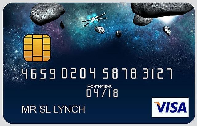 Fomo ilustrativa de um cartão de crédito