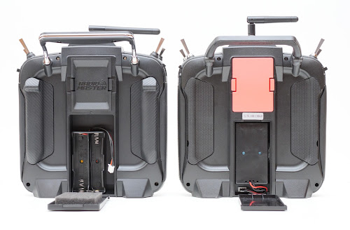 TX16S and T16 Pro battery compartments compared