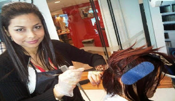 aclarando el color del cabello