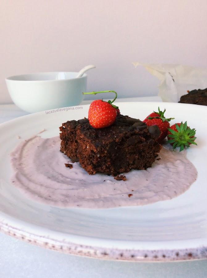 Brownie vegano alubias negras