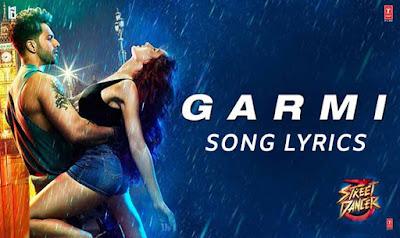 Garmi Lyrics in Hindi