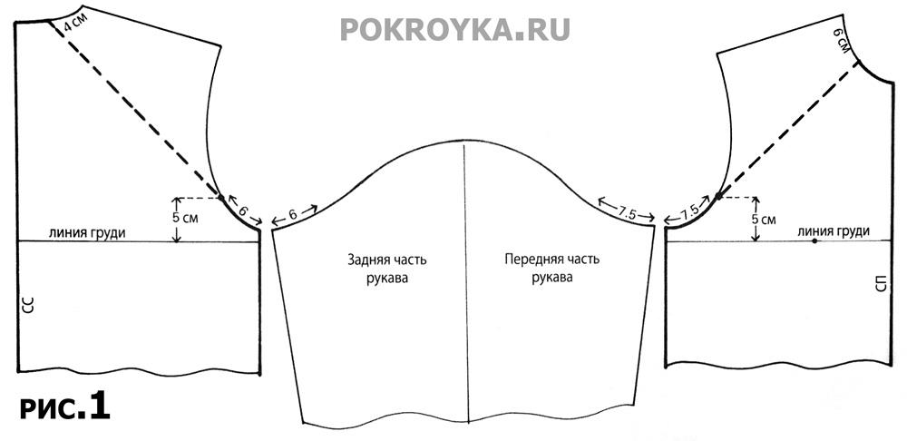 Пляжный халат с рукавом покроя реглан