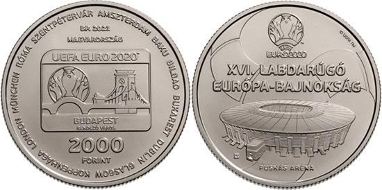 Hungary 2,000 forint 2021 - 16th UEFA Football European Championship
