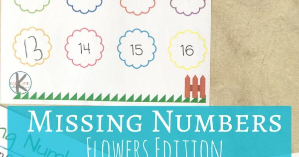 Kindergarten Worksheets and Games: FREE Flowers Missing Numbers