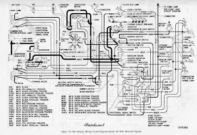 buick roadmaster series 40 1952 chassis wiring circuit ... wiring diagram 1992 buick roadmaster