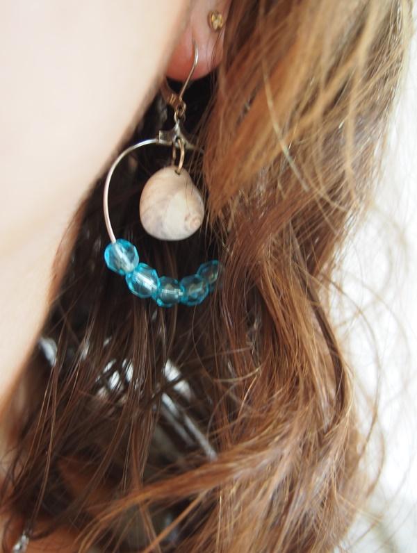 DIY : boucles d'oreilles coquillage