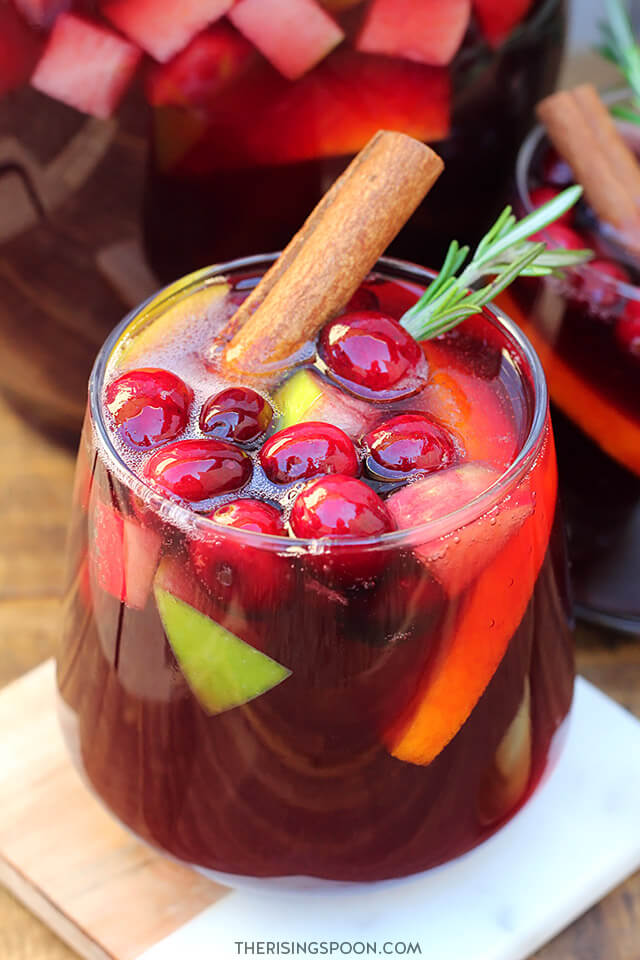 Cranberry Apple Red Wine Holiday Sangria (Easy & Festive Drink Recipe)