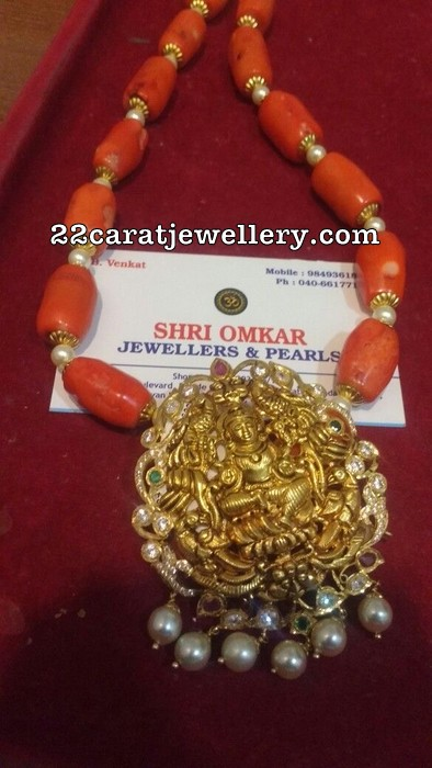 Coral Beads set by Shri Omkar jewellers