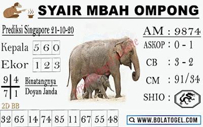 Kode syair Singapore Rabu 21 Oktober 2020 189