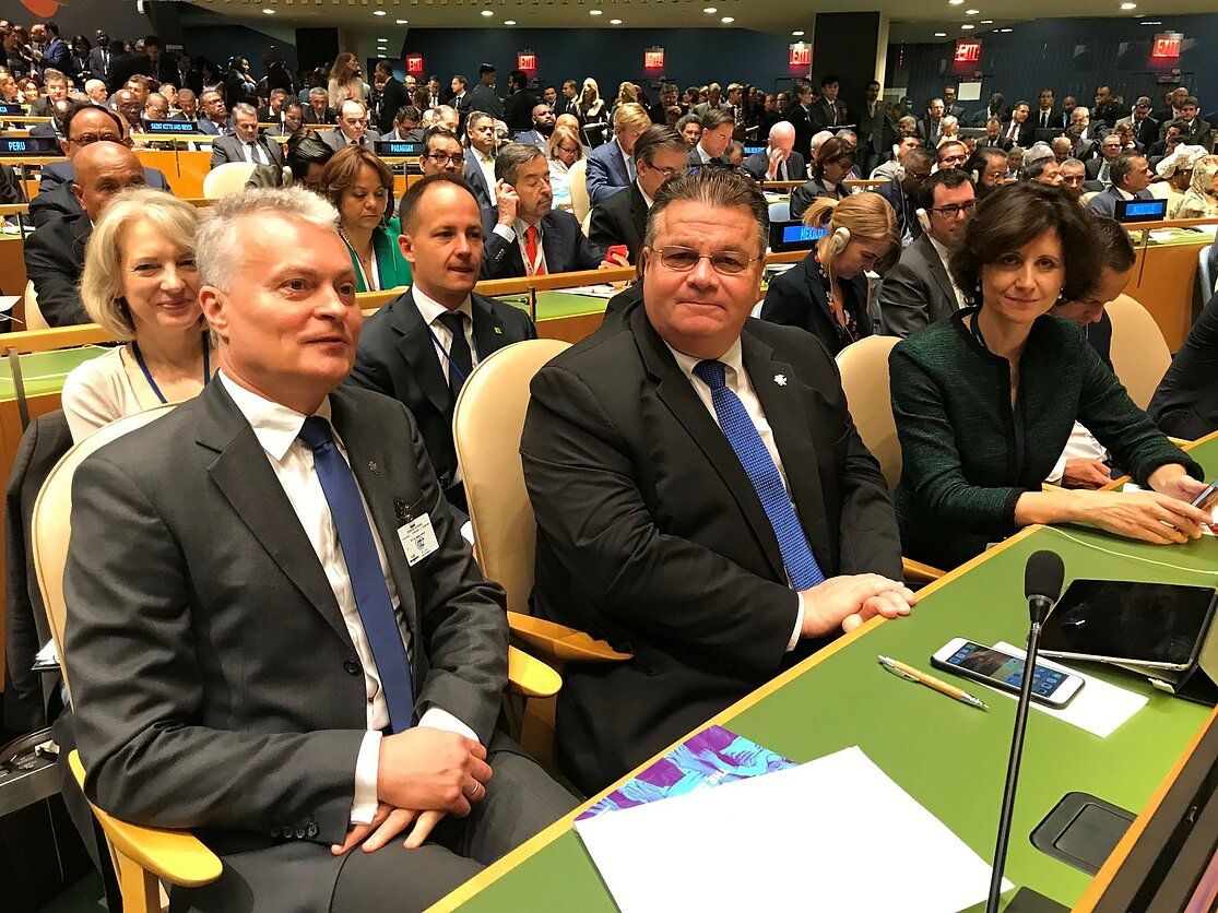 """Dar viena JTO Generalinės Asamblėjos metu Nausėdos pasakyta kvailystė: """"patriotizmas neprieštarauja globalizmui"""""""