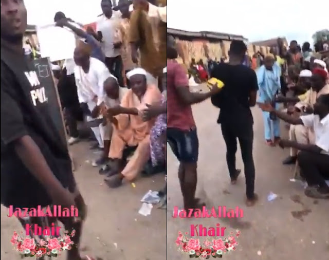 End SARS: See Touching Moment Hoodlums Began Sharing Their Loot With Beggars