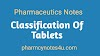 Classification of Tablets Pharmaceutics Notes.