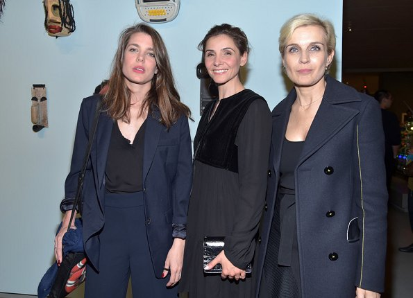 Charlotte Casiraghi,Clotilde Courau and Melita Toscan du Plantier