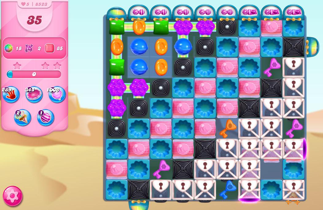 Candy Crush Saga level 8523