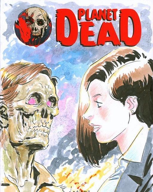 Planet Dead #3: blank cover con disegno a colori