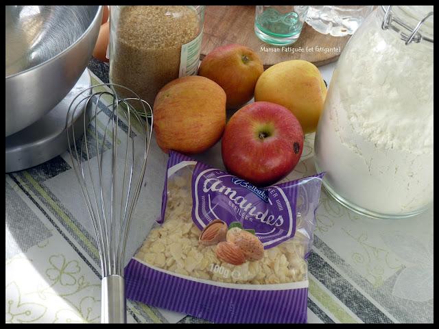 cake pommes amandes
