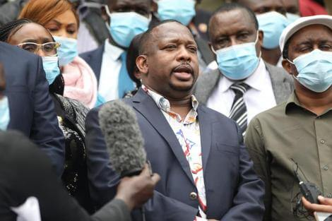Nairobi Governor Mike Sonko photo with MCAs at KICC