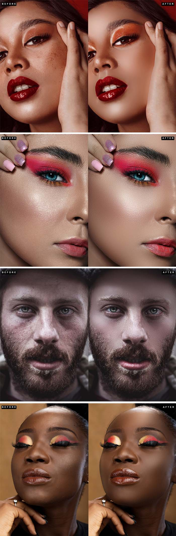 Premium Skin Retouch Photoshop Actions