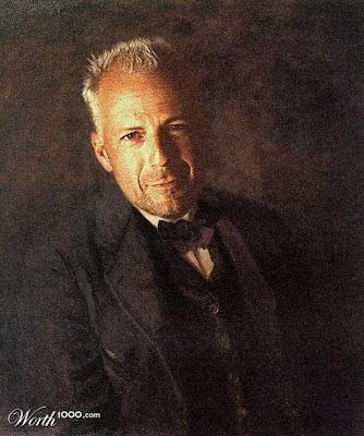 Retrato de epoca de figuras famosas de hollywood-Bruce Willis