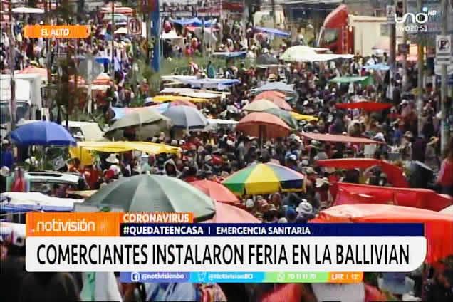 Feria de la zona Ballivián hizo caso omiso a normativa de emergencia sanitaria