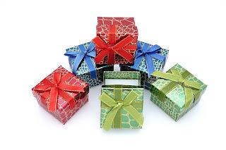 "Коробочка из картона, под кольцо, подарочная ""Крокодил"" box23"