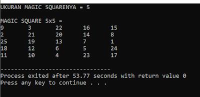 Cara Membuat Program Magic Square Bahasa Pemrograman C