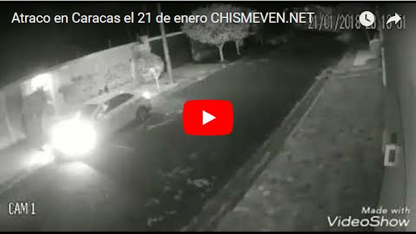 Un Atraco en Los Dos Caminos terminó con ladrón atropellado