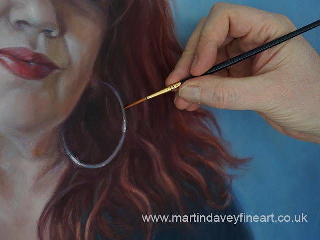 portrait painting close up woman figure art Davey