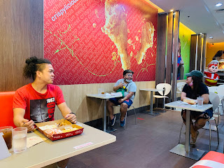 Apart but together. This is how dining-in under the new normal looks like at Jollibee SM Center Angon