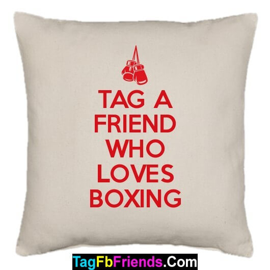 Tag a friend who is a good boxer.
