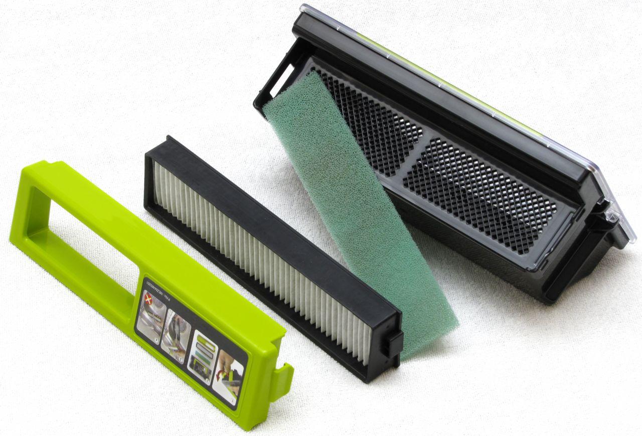 LG Hom-Bot Square 3.0, contenitore per la polvere e filtri