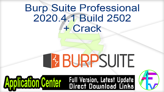 Burp Suite Professional 2020.4.1 Build 2502 + Crack