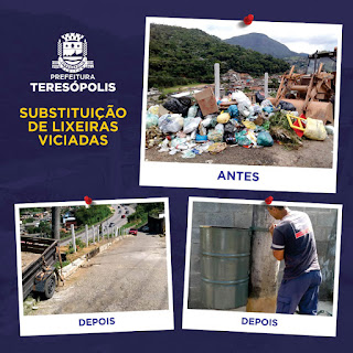 Solução para as lixeiras viciadas: Prefeitura começa a instalar novos coletores nas comunidades de Teresópolis