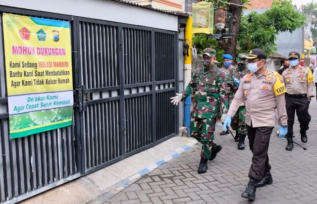 Akses Ditutup, 509 Warga RW 12 Desa Waru Sidoarjo Jalani Isolasi Mandiri