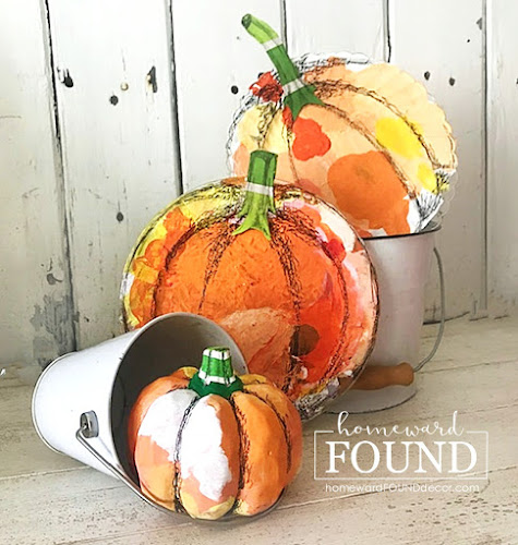art,art class,wall art,pumpkins,painting,crafting,fall,diy decorating,DIY,decorating,re-purposing,up-cycling,junk makeover,wreaths,color,home decor, fall home decor, fall pumpkin decor, creative pumpkins, plastic plate pumpkins,Dollar Tree crafts,paint brush crafts