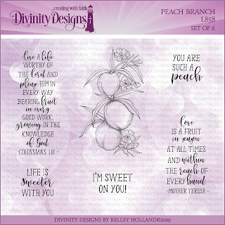 Divinity Designs Stamp Set: Peach Branch