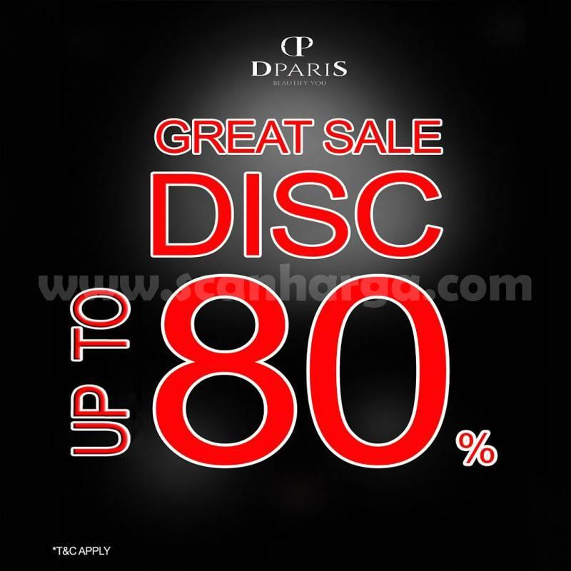 Promo DPARIS GREAT SALE diskon Up To 80%*