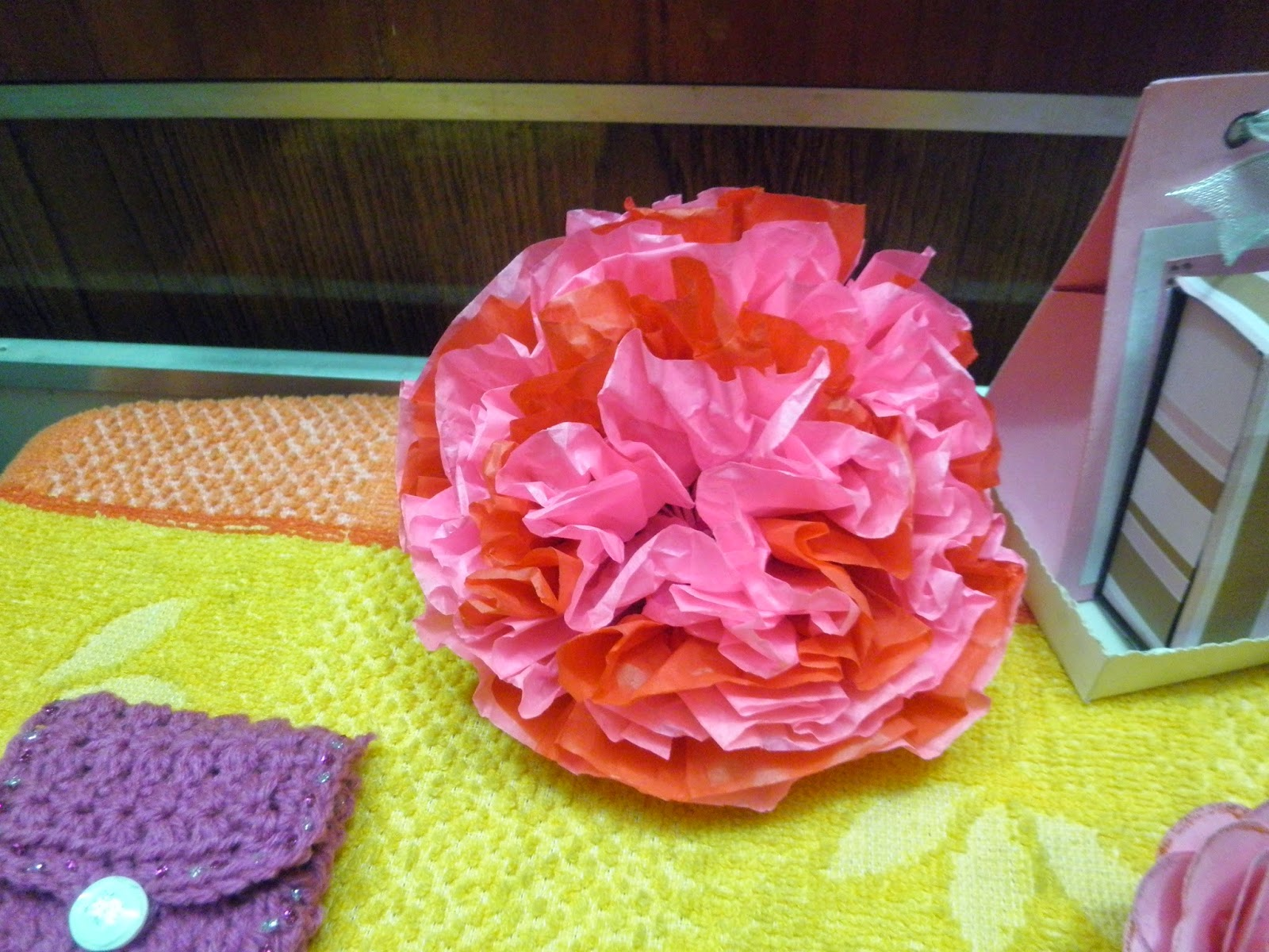 Tissue paper flower, Made in craftadise