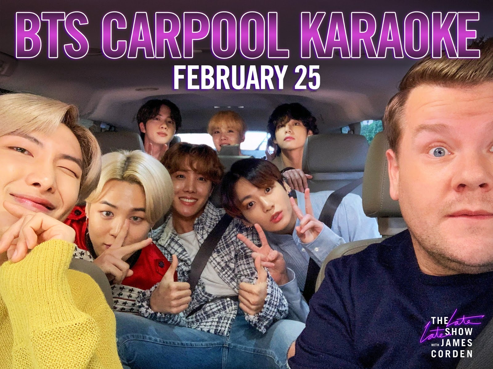 BTS Will Do The 'Carpool Karaoke' on 'The Late Late Show with James Corden'