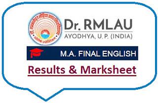 Avadh University MA English Final Result 2021