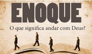 Imagem ilustrativa, Enoque, o que significa andar com Deus? ilustração de homens caminhando em uma grande bíblia aberta.