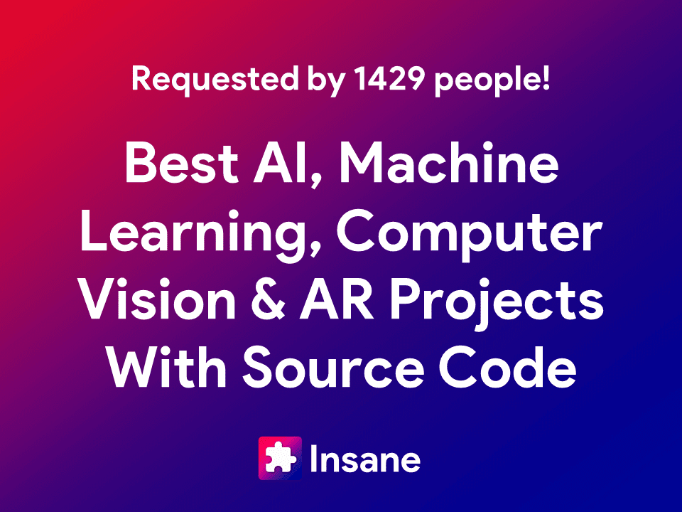 Best Augmented Reality, Computer Vision And Machine Learning Projects with Source Code